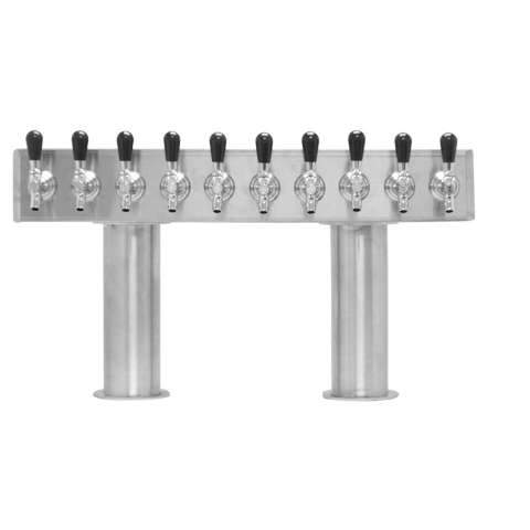 Beer Tower 10 Tap Pass-Thru, 4 Inch Pedestal, Glycol - BarStoreUSA
