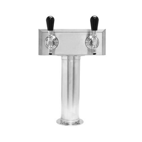 Beer Tower 2 Tap American T-Box, 3 Inch Pedestal, Air - BarStoreUSA