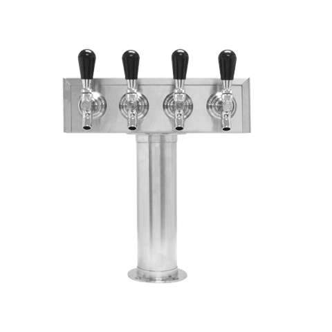 Beer Tower 4 Tap American T-Box, 3 Inch Pedestal, Air - BarStoreUSA