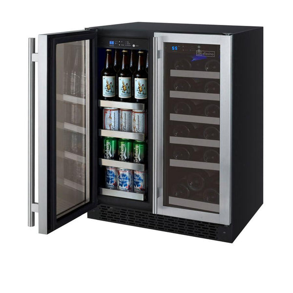 Allavino FlexCount Series Two Door Wine Refrigerator/Beverage Center VSWB-2SSFN - BarStoreUSA
