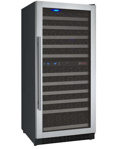 Allavino 121 Bottle FlexCount Series Dual Zone Wine Refrigerator VSWR121-2SSRN - BarStoreUSA