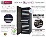 "Allavino24"" Wide FlexCount II Tru-Vino 172 Bottle Dual Zone Stainless Steel Left Hinge Wine Refrigerator Model:VSWR172-2SL20"