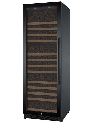 "Allavino 24"" Wide FlexCount II Tru-Vino 177 Bottle Single Zone Black Left Hinge Wine Refrigerator Model: VSWR177-1BL20"