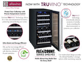 "Allavino 15"" Wide FlexCount II Tru-Vino 30 Bottle Dual Zone Stainless Steel Right Hinge Wine Refrigerator Model: VSWR30-2SR20"