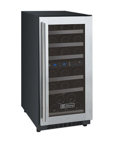 Allavino 30 Bottle FlexCount Series Dual Zone Wine Refrigerator VSWR30-2SSRN - BarStoreUSA