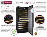 "Allavino 63"" Wide Vite II Tru-Vino 554 Bottle Dual Zone Black Side-by-Side Wine Refrigerator Model: 2X-YHWR305-1B20"