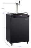 "Kegco 24"" Wide Dual Tap Black Commercial/Residential Digital Kegerator Model: Z163B-2NK"