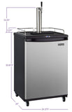 "Kegco 24"" Wide Single Tap Stainless Steel Commercial/Residential Kegerator Model: Z163S-1NK"