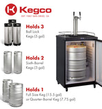"Kegco 24"" Wide Dual Tap Stainless Steel Commercial/Residential Digital Kegerator Model: Z163S-2NK"