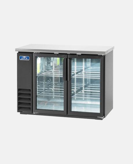 "Arctic Air Two Door Glass 48"" Back Bar Refrigerator ABB48G - BarStoreUSA"