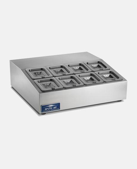"Arctic Air 8 Pan Compact 28"" Counter-Top Prep Unit ACP8SQ - BarStoreUSA"
