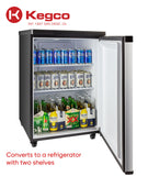 "Kegco 24"" Wide Cold Brew Coffee Dual Tap Stainless Steel Kegerator Model: ICK20S-2NK"