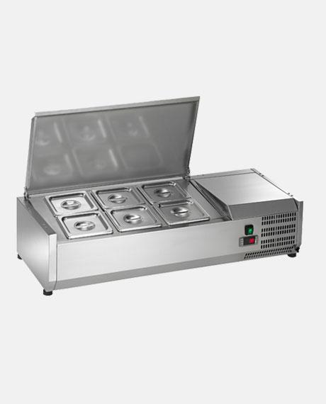 "Arctic Air Six Pan 40"" Counter-Top Prep Unit ACP40 - BarStoreUSA"