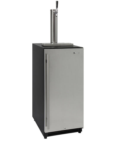 "Kegco 15"" Wide Built In Kegerator with Stainless Steel Door VSK-15SSRN - BarStoreUSA"