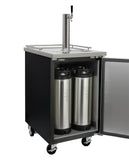 "Kegco 24"" Wide Kombucha Single Tap Black Commercial Kegerator Model: KOMC1B-1"