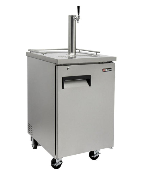 Kegco Single Keg Commercial Grade Kegerator Stainless Steel XCK-1S - BarStoreUSA