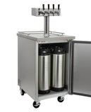 "Kegco 24"" Wide Kombucha Four Tap All Stainless Steel Commercial Kegerator Model: KOMC1S-4"