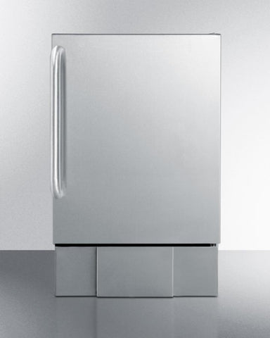 "Summit Appliance 15.13"" Stainless Steel Outdoor Icemaker BIM24OS - BarStoreUSA"