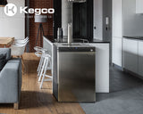 "Kegco 24"" Wide Single Tap Stainless Steel Digital Kegerator Model: K309SS-1NK"