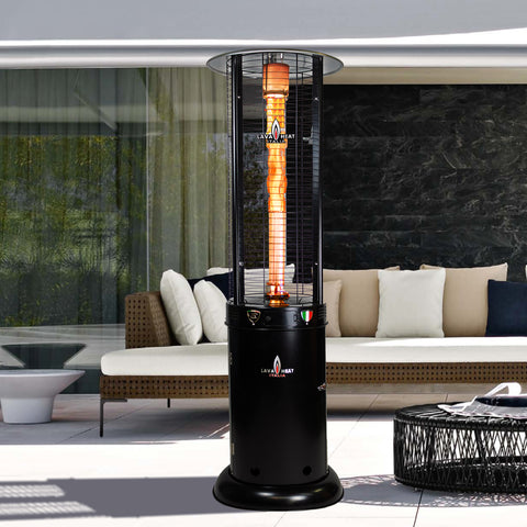 Lava Heat Italia Patio Heater Opus Lite Hammered Black  - Natural Gas RL7MGBL