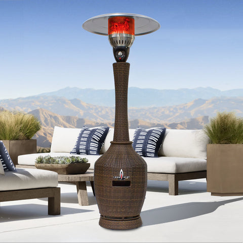 Lava Heat Italia Patio Heater Palermo Bronze Wicker - Natural Gas TL7MGBW - BarStoreUSA
