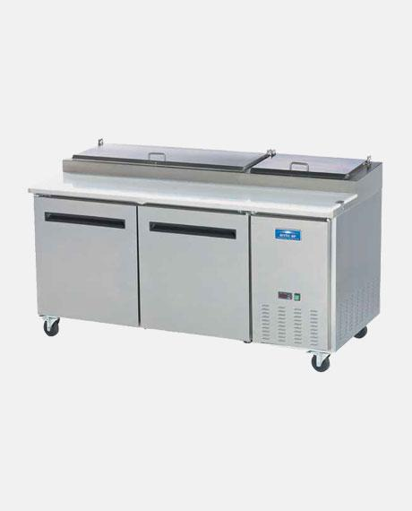 "Arctic Air Two Door 71"" Pizza Prep Table APP71R - BarStoreUSA"