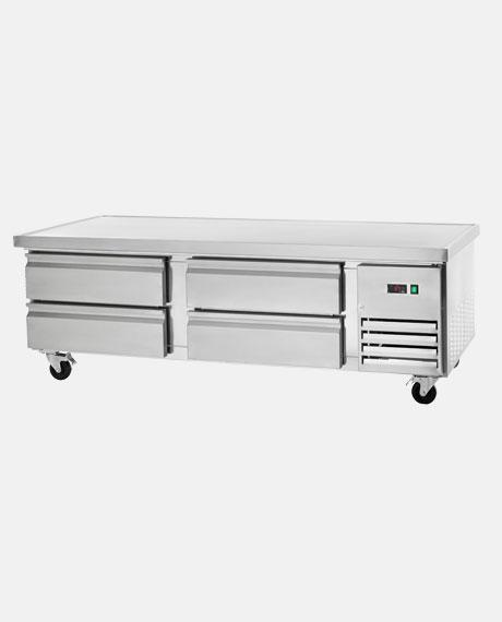 "Arctic Air Four-Drawer 72"" Refrigerated Chef Base ARCB72 - BarStoreUSA"