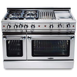 Capital Precision 48″ Gas Self Clean Range GSCR484W - BarStoreUSA
