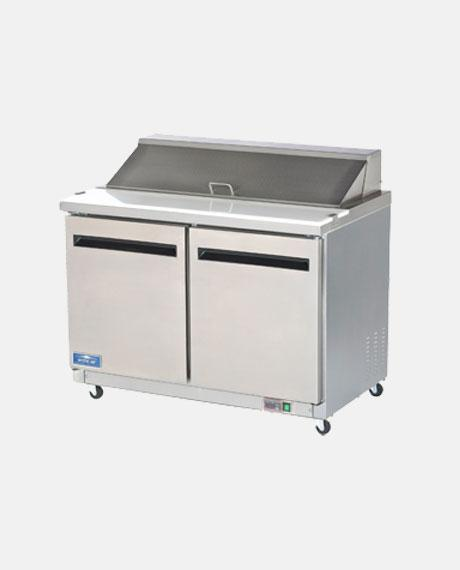 "Arctic Air Two Door 48"" Sandwich/Salad Prep Table AST48R - BarStoreUSA"