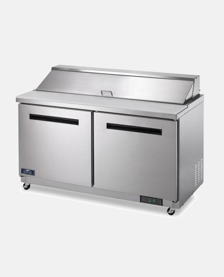 "Arctic Air Two Door 60"" Sandwich/Salad Prep Table AST60R - BarStoreUSA"