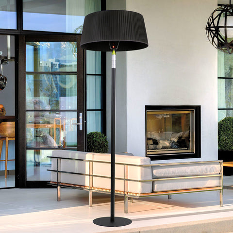 Lava Heat Italia Patio Heater Shade Heat Lamp - Midnight Black EL7ERB - BarStoreUSA