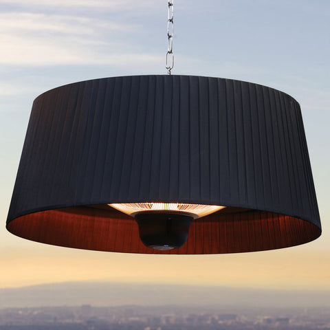 Lava Heat Italia Patio Heater Shade Heat Lamp - Midnight Black EL2ERB