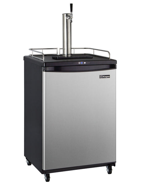 "Kegco 24"" Wide Cold Brew Coffee Single Tap Stainless Steel Commercial/Residential Kegerator Model: ICZ163S-1NK"
