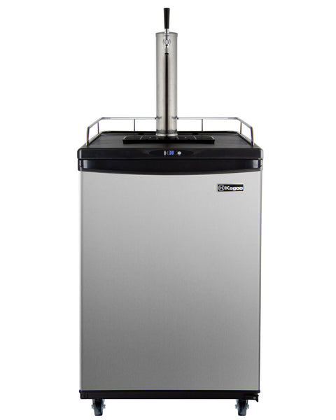 "Kegco 24"" Wide Stainless Steel Commercial/Residential Kegerator - Cabinet Only Model: KC ZCK-163S"