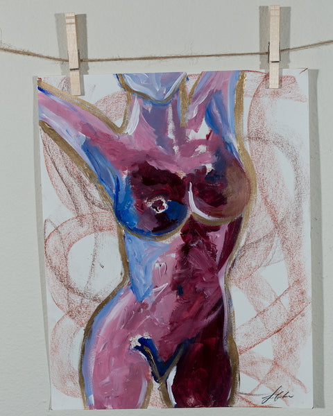 Abstract Acrylic Nude Study