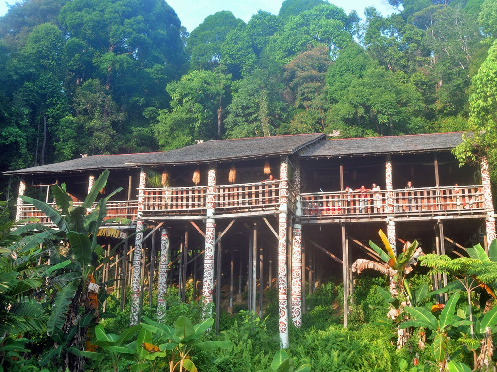 Longhouses deep within the rainforest