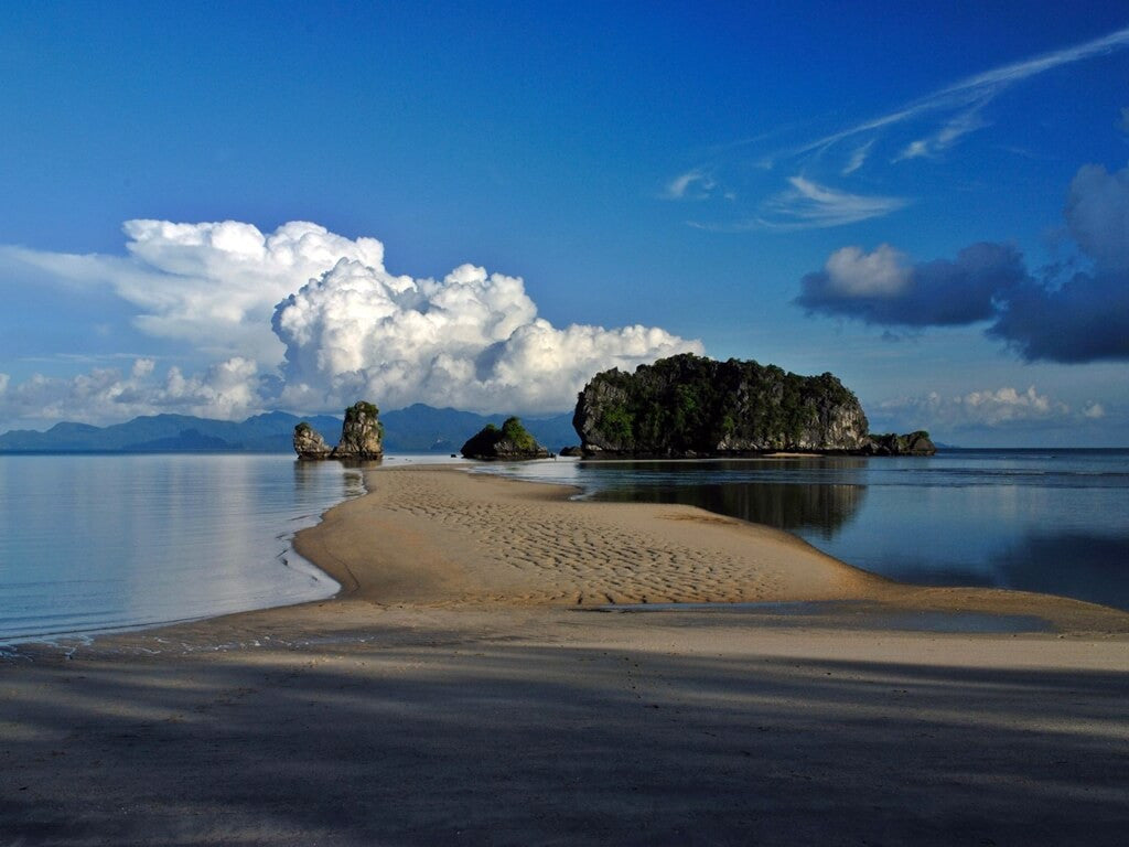 The serene Tanjung Rhu beach
