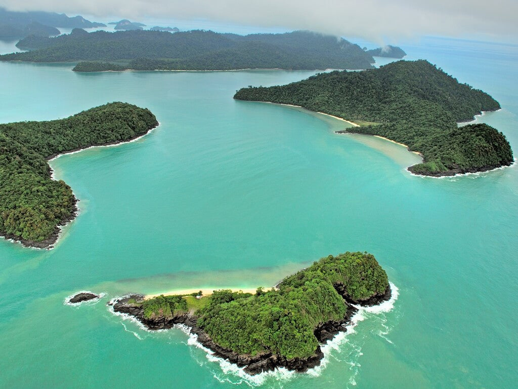 Bird's eye view of the Langkawi archipelago