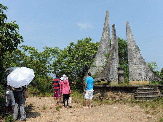 A boat people monument in Bidong Island