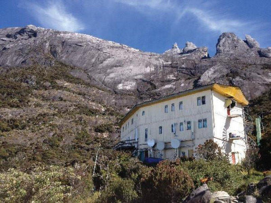 A resthouse for hikers on Mount Kinabalu