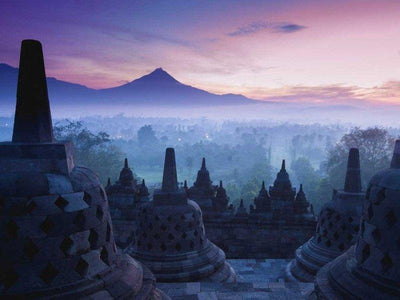 A view from the Borobudur Temple in Indonesia