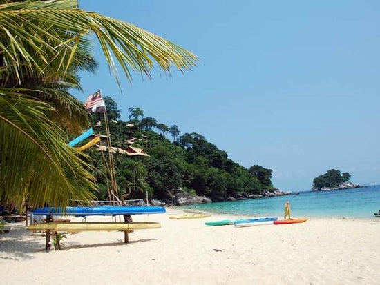 Beautiful sandy beach at Pulau Tioman