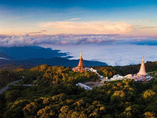 Chedis at the summit of Doi Inthanon National Park