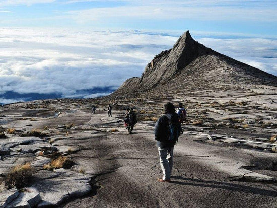 Climbers at the top of Mount Kinabalu