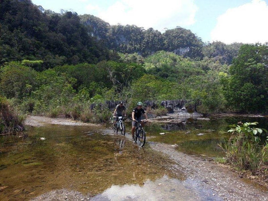 Cycling through the countrside of Kuching