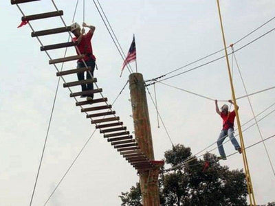 High rope obstacle course at Desaru
