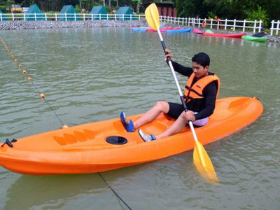 Kayaking at manmade lake Broga
