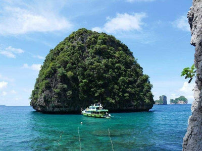 Limestone rock island at Phi Phi Island and Khai Island