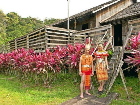 Local tribes wearing traditional tribe clothings