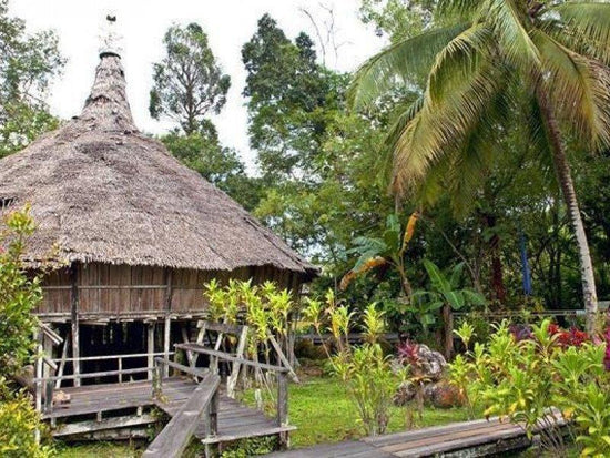 Old structure in Sarawak Cultural Village